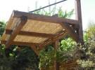 בניית פרגולות מעץ גושני