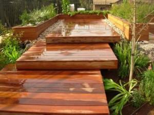 בניית דק מעץ איפאה
